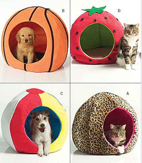 BUTTERICK PATTERN B4949 - - PET DOG CAT BED IGLOO BASKETBALL ...