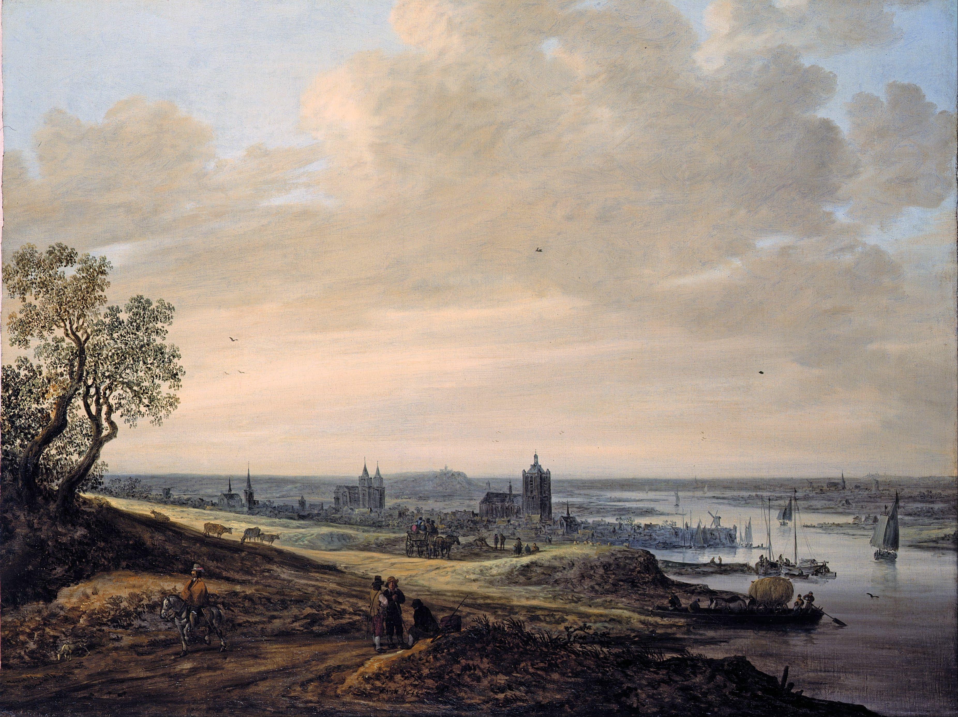 Arnheim Shopping jan goyen panorama landscape with a view of arnheim museum