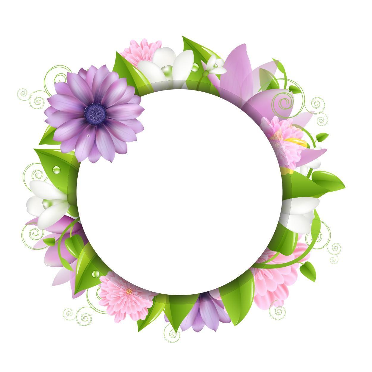 Flower12 Flowers Pinterest Vector Flowers Border Design And Flower Frame