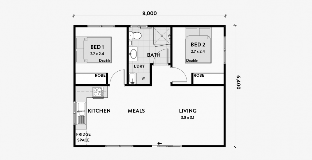 Floor Plans Granny Flats Australia In 2020 Granny Flat Plans Granny Flats Australia Floor Plans
