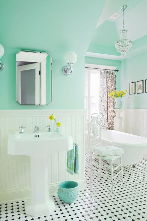 mint green paint colors vintage bathroom benjamin moore spirit in the sky
