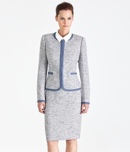 Pastel Blue Tweed Skirt Suit Blue Tweed Tweed Skirt Clothes