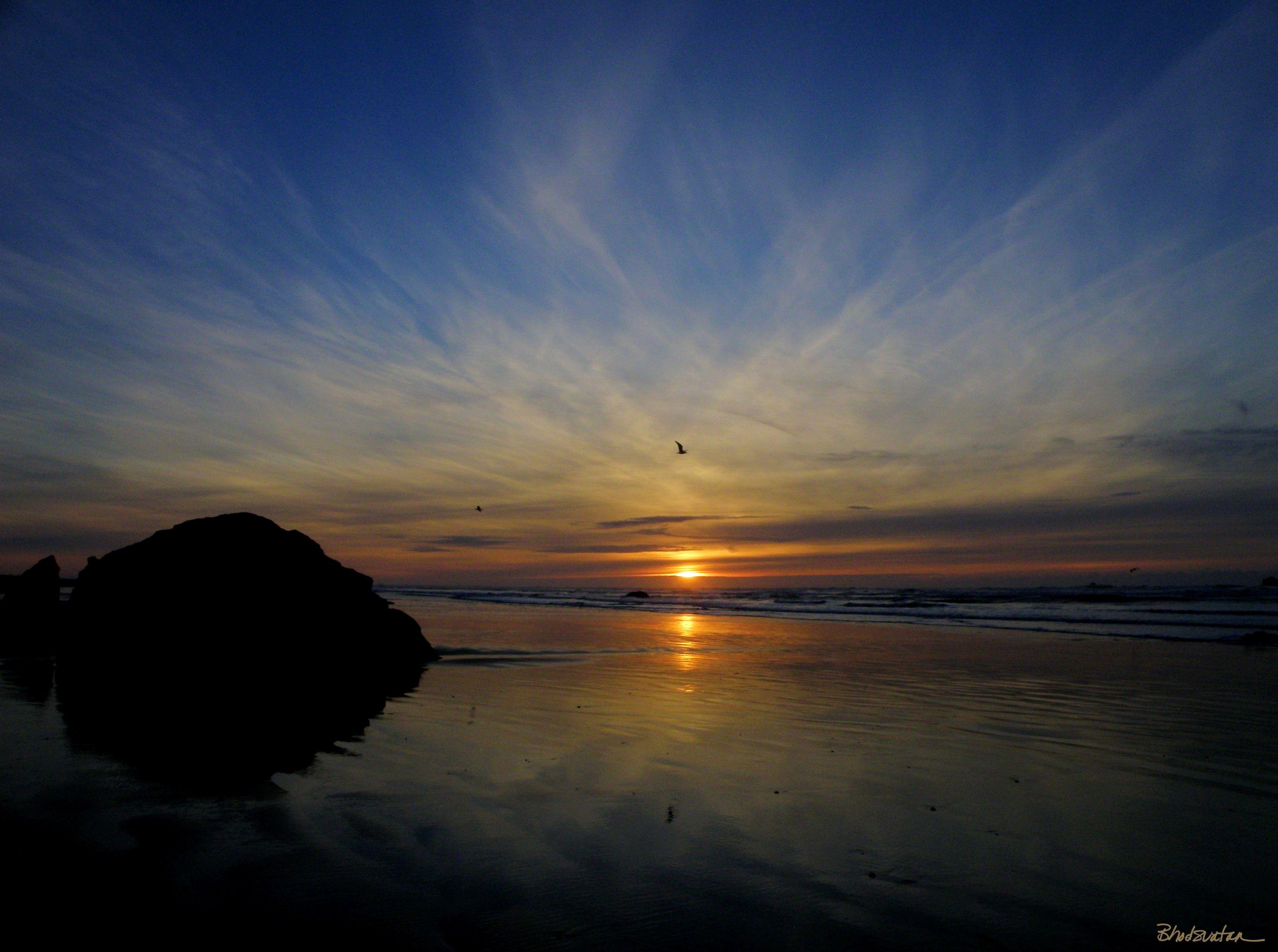 Bailey Beach Sunset Gold