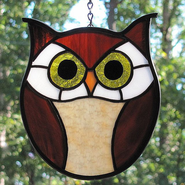 Stained Glass Hoot Owl by livingglassart home of oddballs and oddities, via Flickr