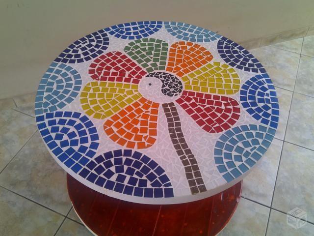 Mesa Em Mosaico Projetos De Mosaico Pecas De Mosaico E Carretel