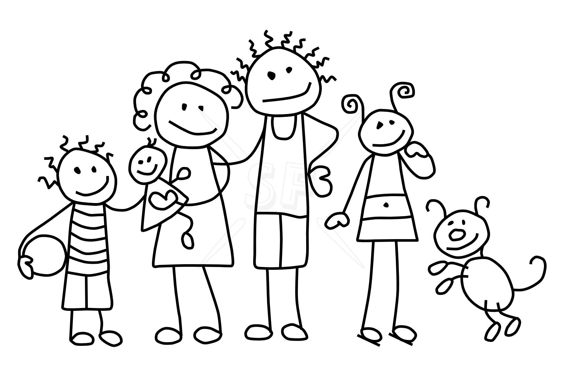 Families Coloring Pages Stick Figure Drawing Stick Drawings
