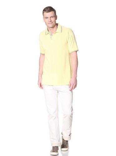 60% OFF Robert Graham Men\'s Casablanca Solid Polo (Yellow)