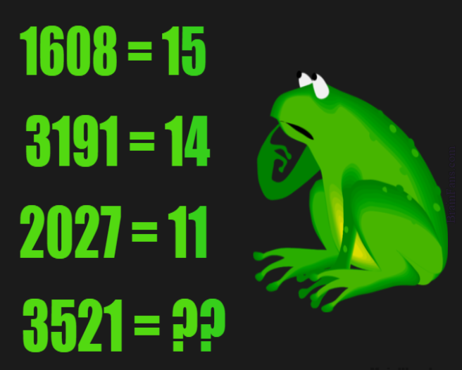 Brain teaser - Number And Math Puzzle - Frog logic puzzle ...