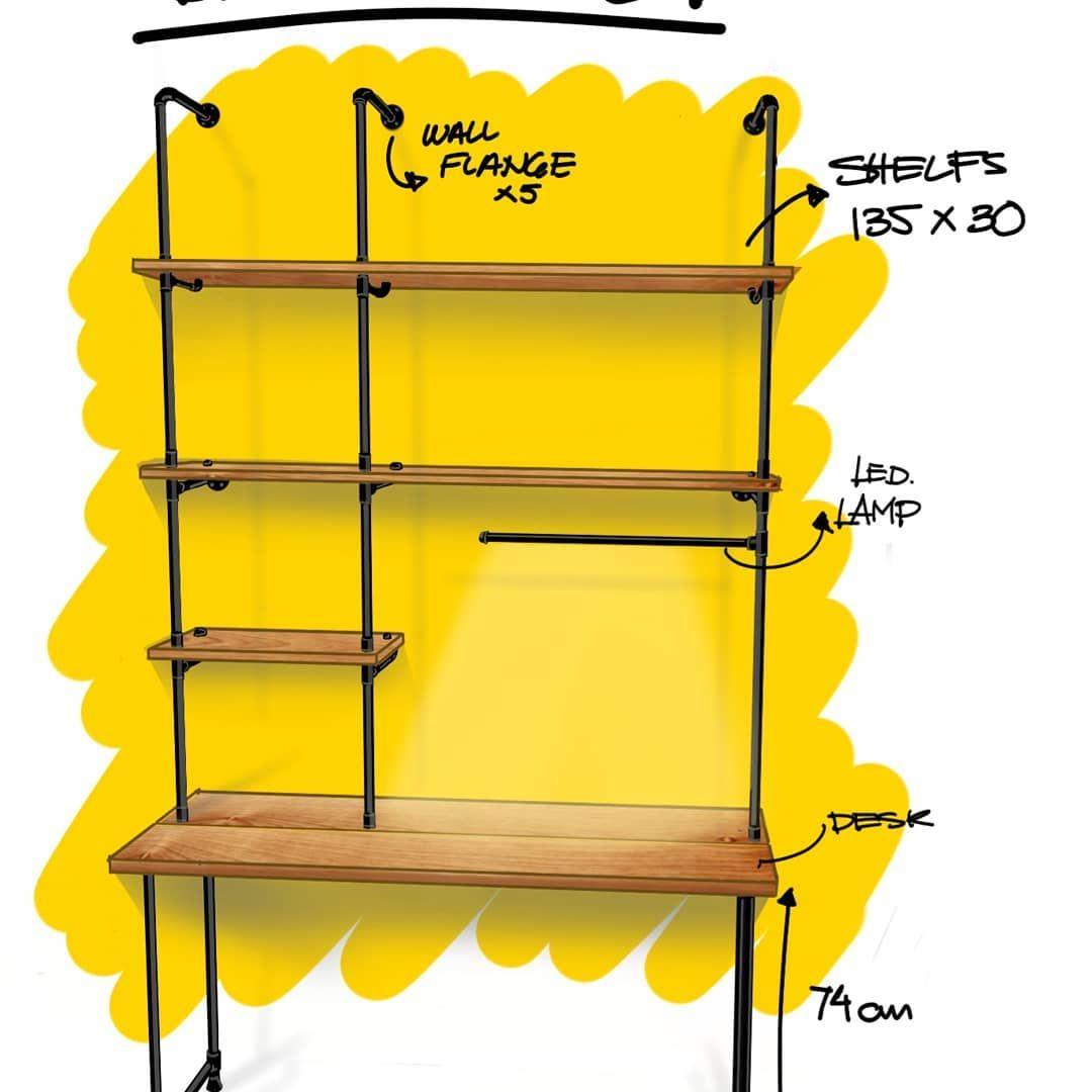 """Pablo Ruy Sánchez on Instagram: """"Home office desk station 👌#designsketching #design #furnituredesign #casabonita #sketch #sketching #homedecor #homeofficedesign #wood…"""""""