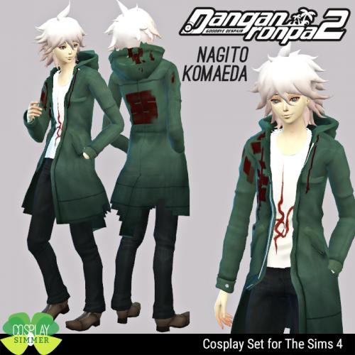 Danganronpa 2 Nagito Komaeda Cosplay Set for The Sims 4 by ...
