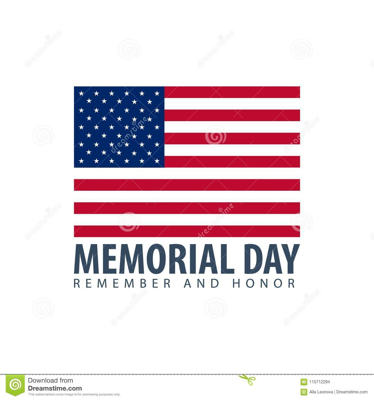 Memorial Day Remember And Honor Usa American Flag Blue Greeting Memorial Day American Flag Memories