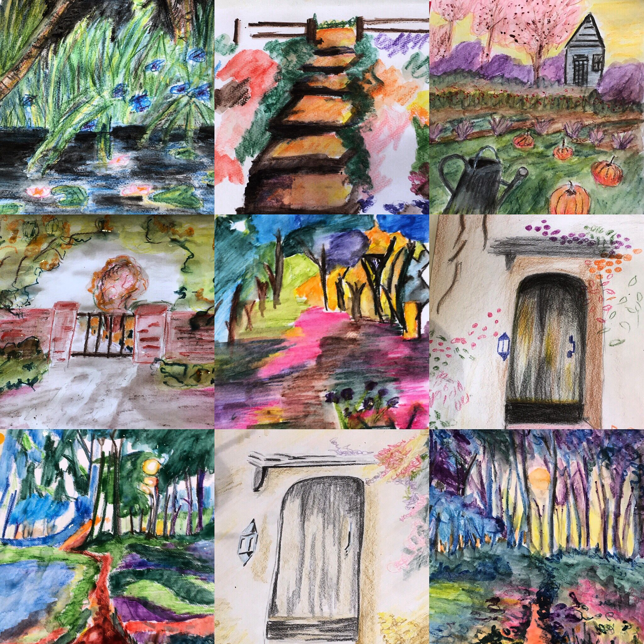 Water Colour Pencils Gates Windows And Colour Watercolor