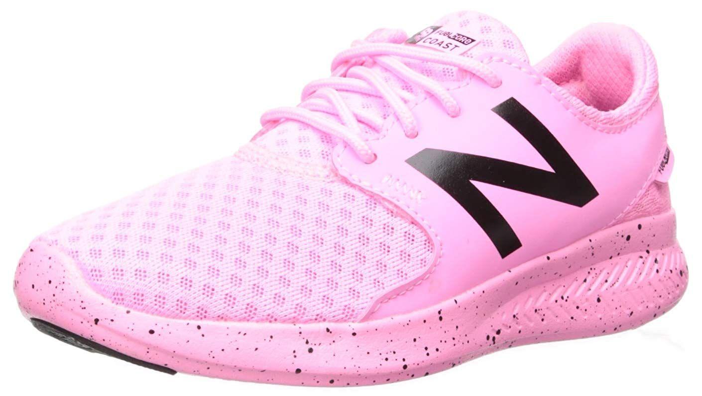 New Balance Girls' Coast V3 FuelCore Running Shoe, Peony