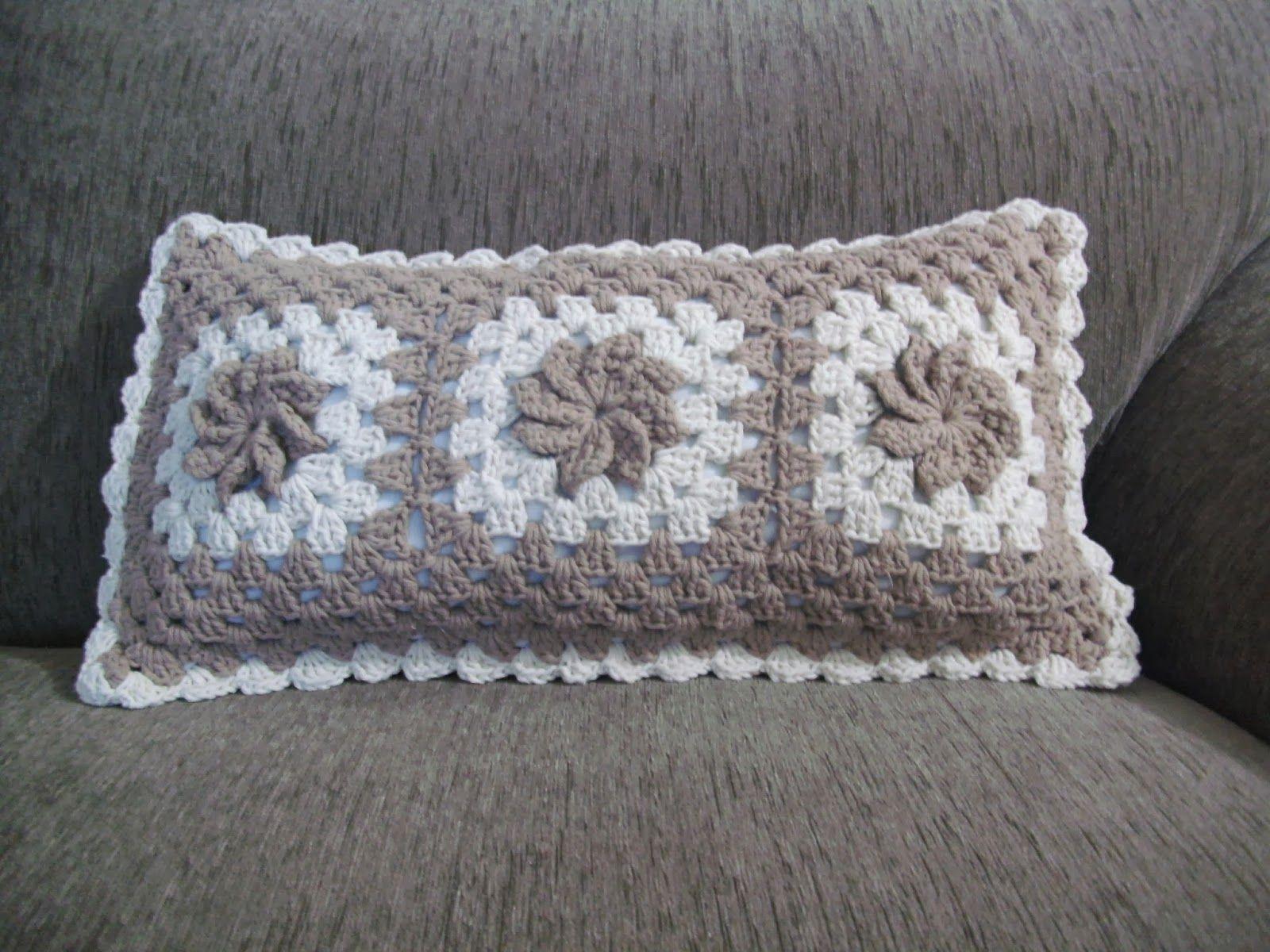 Almofada De Croche Retangular Almofadas De Croche Almofadas