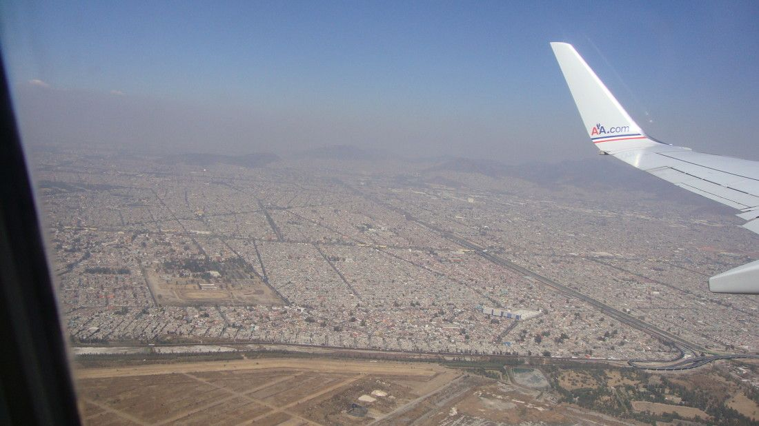 Mexico City from an airplane window. http://fromwayuphigh.com/mexico-city-from-an-airplane-window/