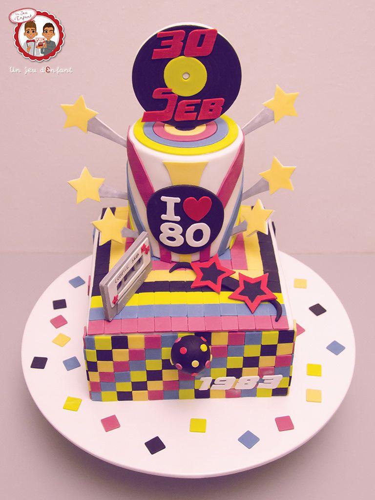 80 39 s cake g teau ann es 80 un jeu d 39 enfant cake design nantes france ann e 80 80 39 s - Gateau annee 80 ...