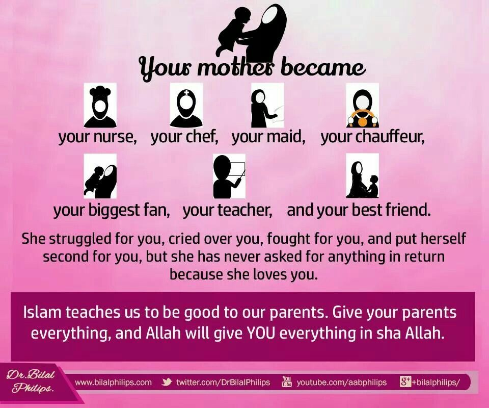 Love Your Mother Mother In Islam Respect Your Parents Islam