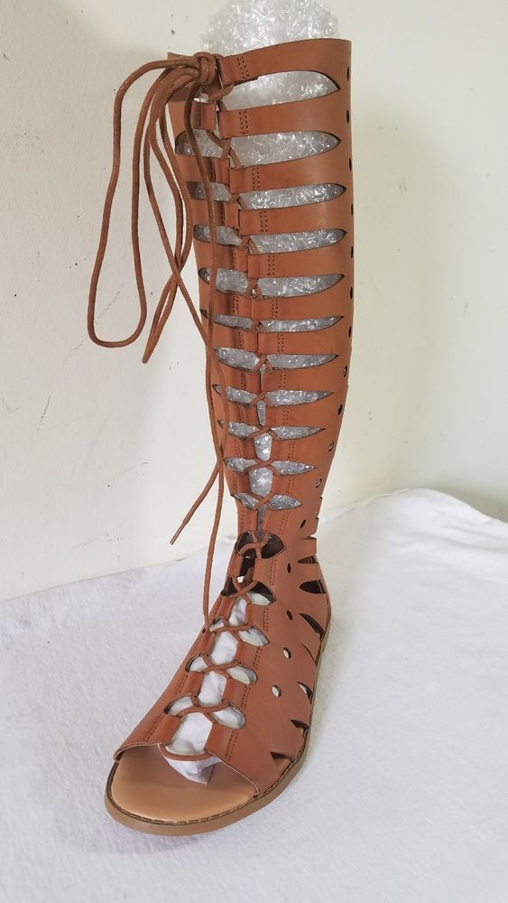 Womens Tall Lace Up Gladiator Sandals