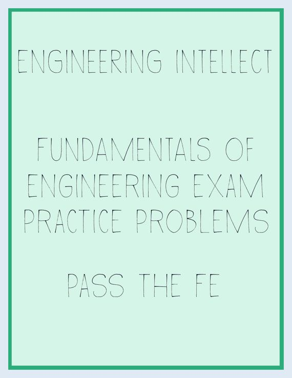FE EIT Fundamentals of Engineering Test Help! For Civil