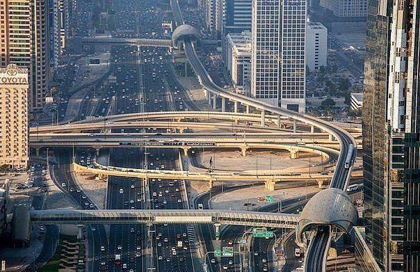 Дубай улицы морской порт дубай
