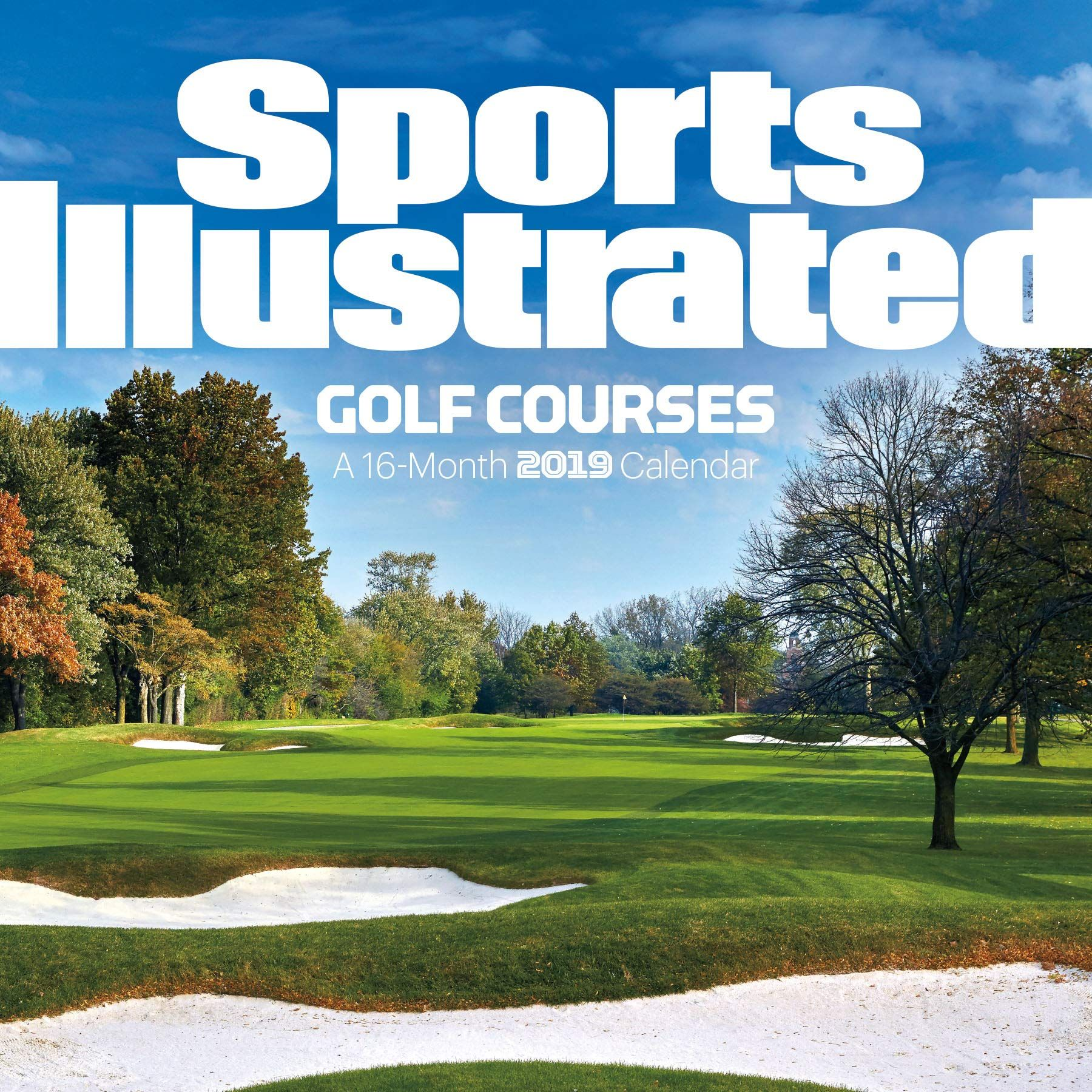 2019 sports illustrated golf courses wall calendar