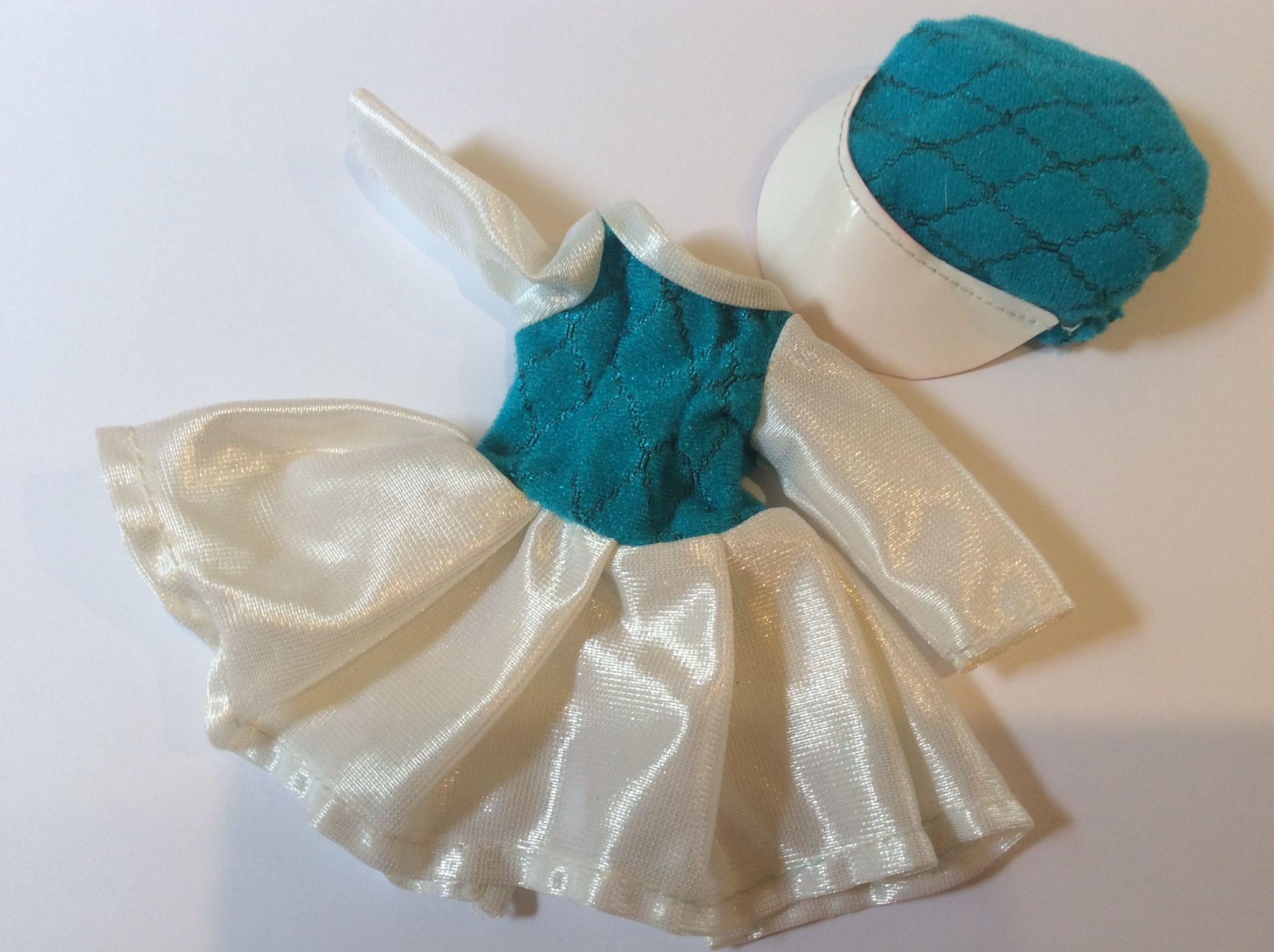 Dress and cap blue variation