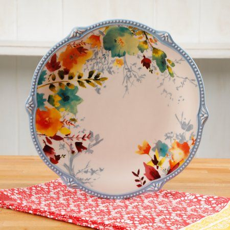 The Pioneer Woman Willow 10.75-Inch Scalloped Dinner Plate - Walmart.com & Buy THE PIONEER WOMAN WILLOW 10.75-INCH SCALLOPED DINNER PLATE at ...