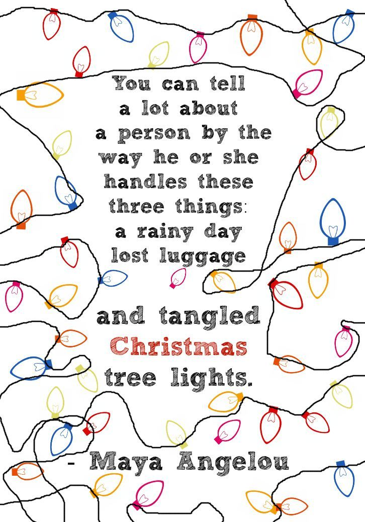 {Quote} Have you got tangled Christmas tree lights this