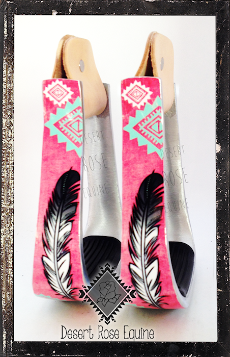 Feather Collection Stirrups By Desert Rose Equine Www