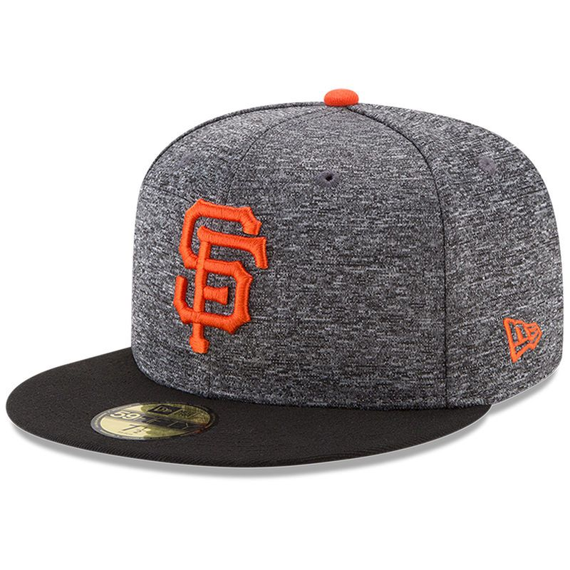 on sale 08fa4 84e29 San Francisco Giants New Era Shadow Tagged 59FIFTY Fitted Hat - Heathered  Gray Black