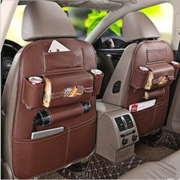 Online Shopping Newest Luxury Full Leather Car Seat Back Organiser