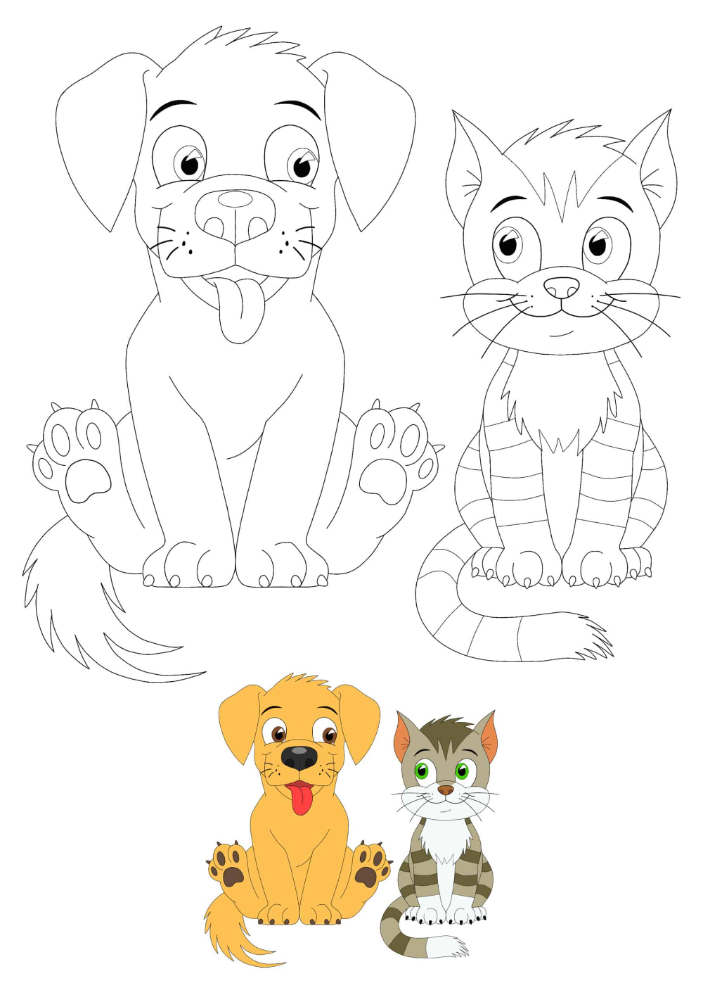 Cat And Dog Coloring Pages 2 Free Coloring Sheets 2020 Dog Coloring Page Cat Coloring Page Anime Cat [ 1414 x 1000 Pixel ]