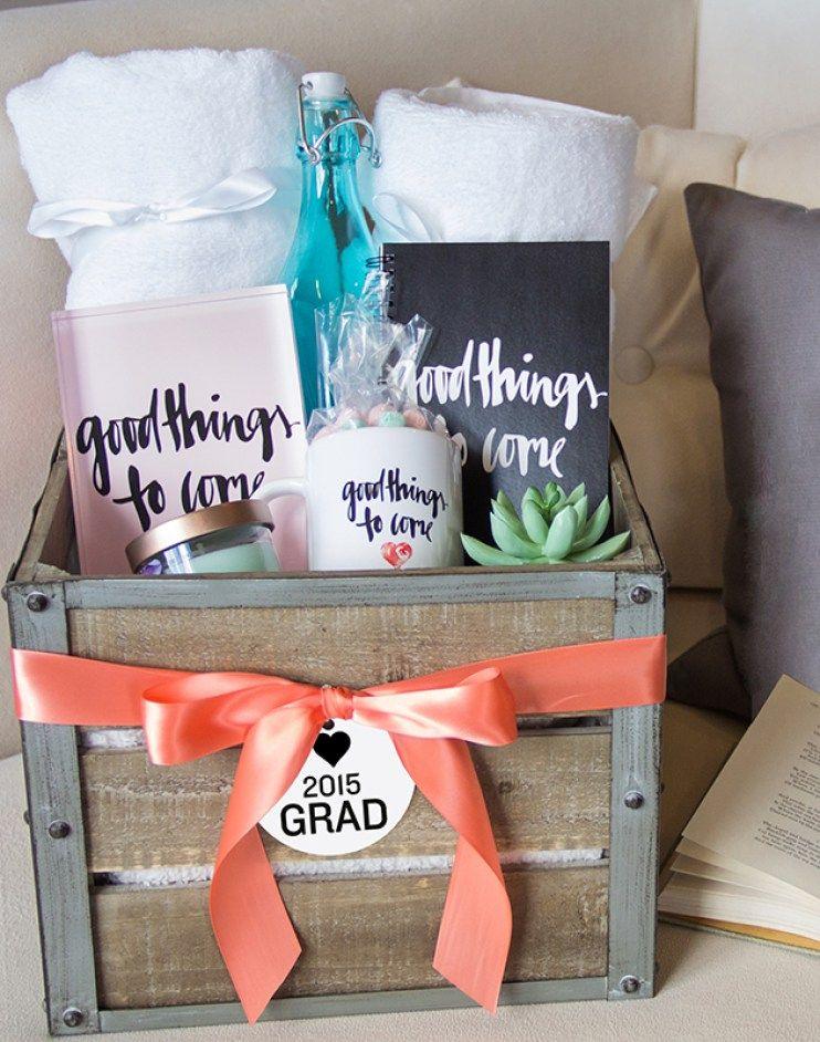 high school graduation gift basket ideas