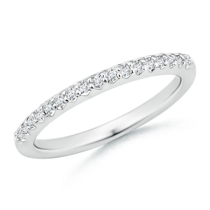 Angara Ruby Diamond Semi Eternity Band in Platinum WjasW