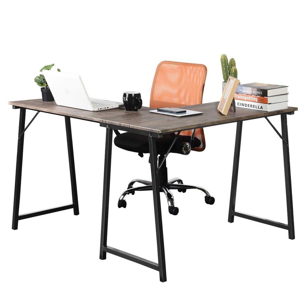 greenforest l shaped corner desk home office computer desk pc laptop rh pinterest com