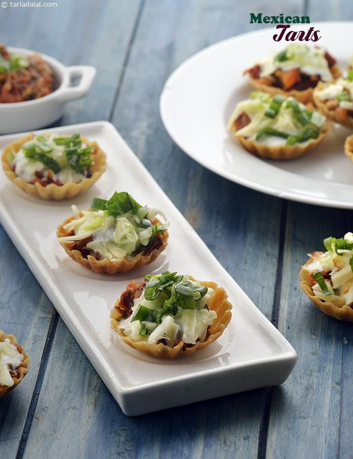 Mexican tarts with refried beans and sour cream recipe mexican mexican tarts with refried beans and sour cream forumfinder Choice Image