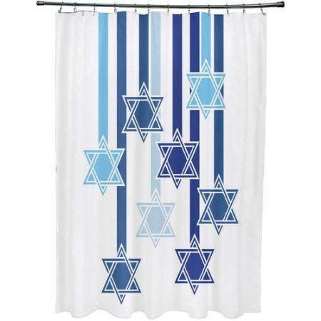 Home Geometric Star Shower Curtain Sizes Curtains