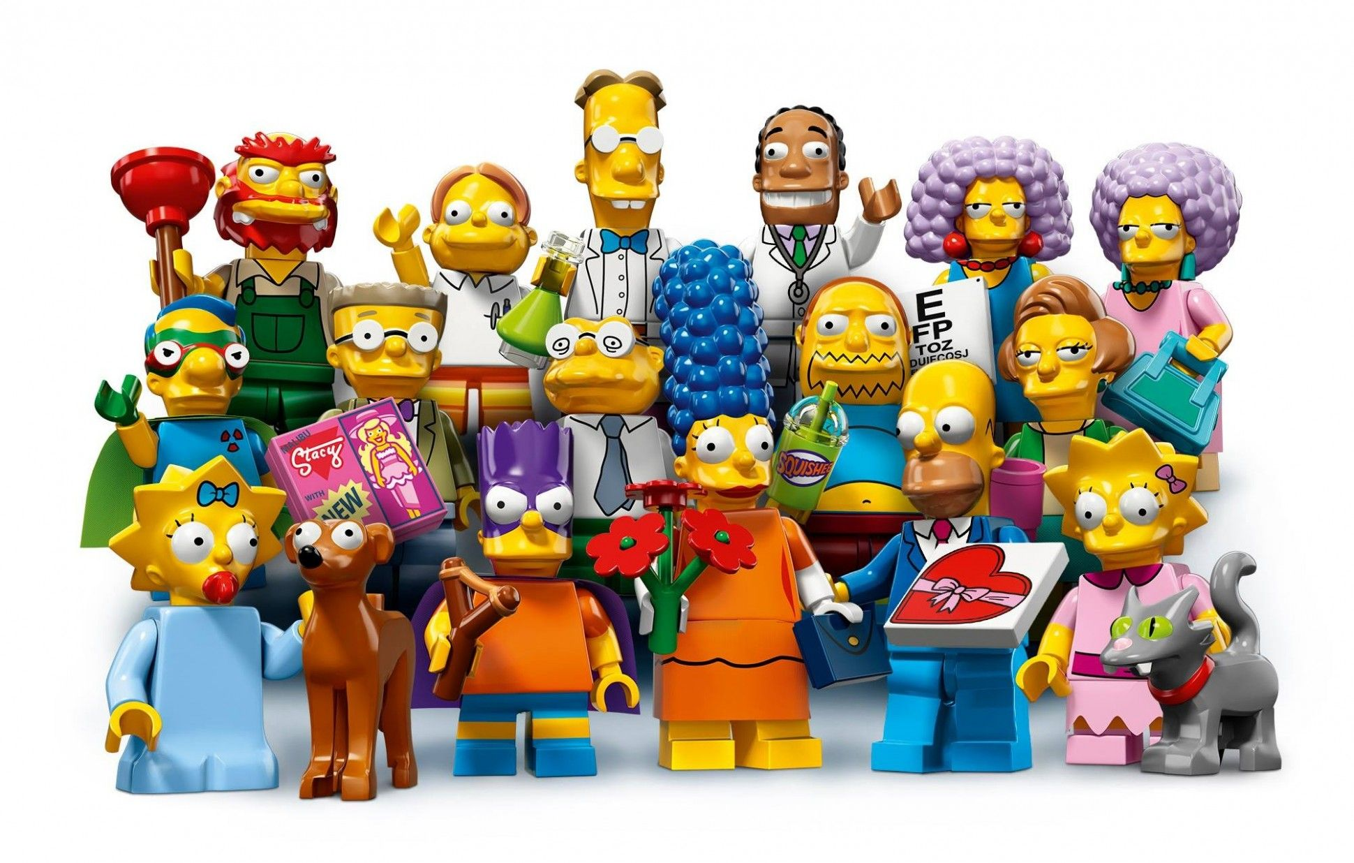Series 2 The Simpsons Lego Minifigures Extend Comic Book Theme Lego Simpsons The Simpsons Lego Figures