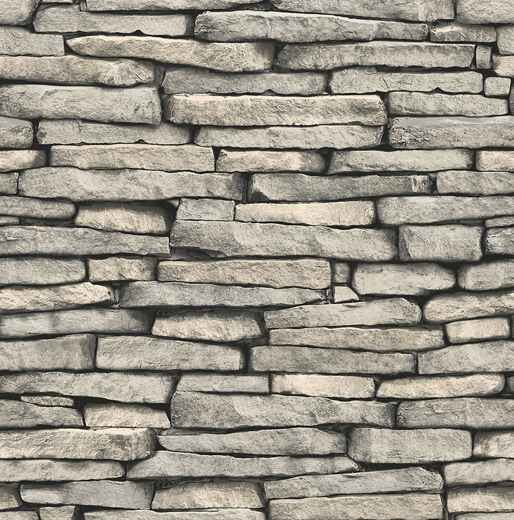 "Essentials Ledge Slate 33 x 20 5"" Stone Wallpaper"