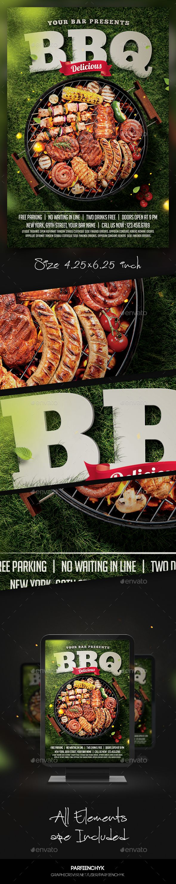 Barbecue Bbq Party Flyer Template  Party Flyer Flyer Template