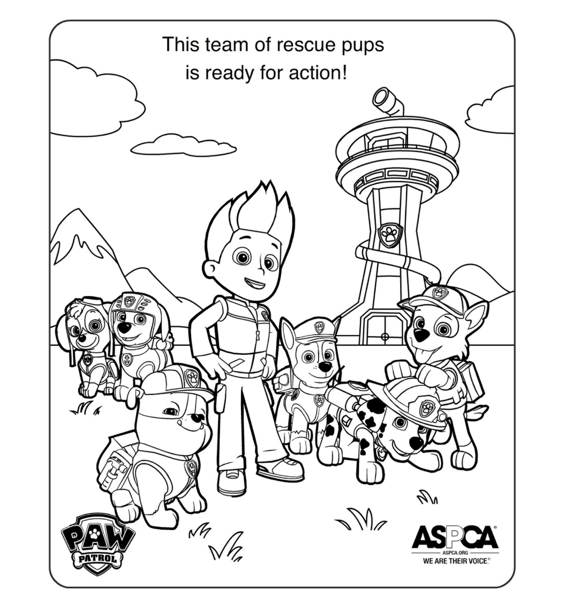 Ausmalbilder Kostenlos Paw Patrol : Paw Patrol Coloring Pages Paw Patrol Party Pinterest