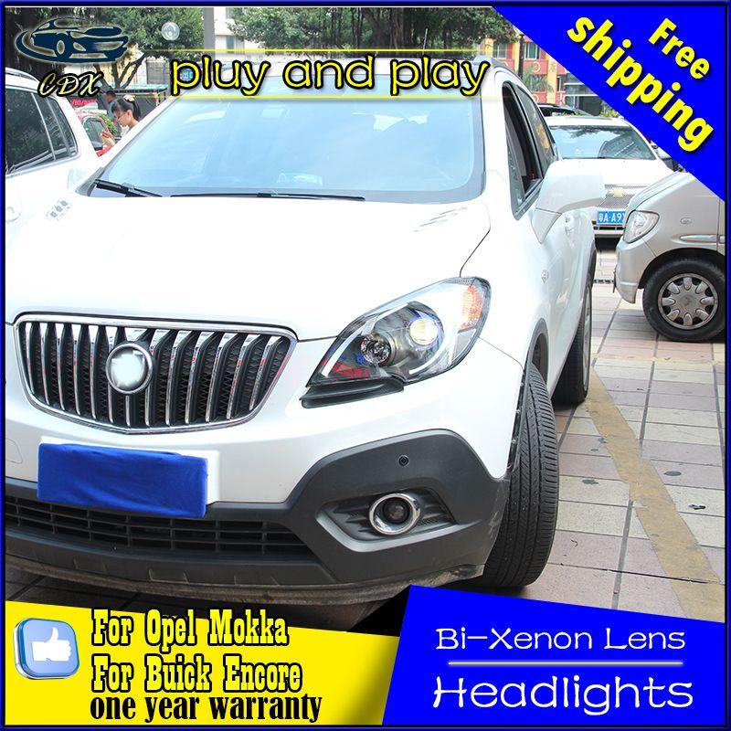 Car Styling Led Head Lamp For Buick Encore Headlights 2013 2015 Opel Mokka Led Headlight Led Drl H7 Hid Bi Xenon Lens Low Beam Opel Mokka Buick Encore Buick