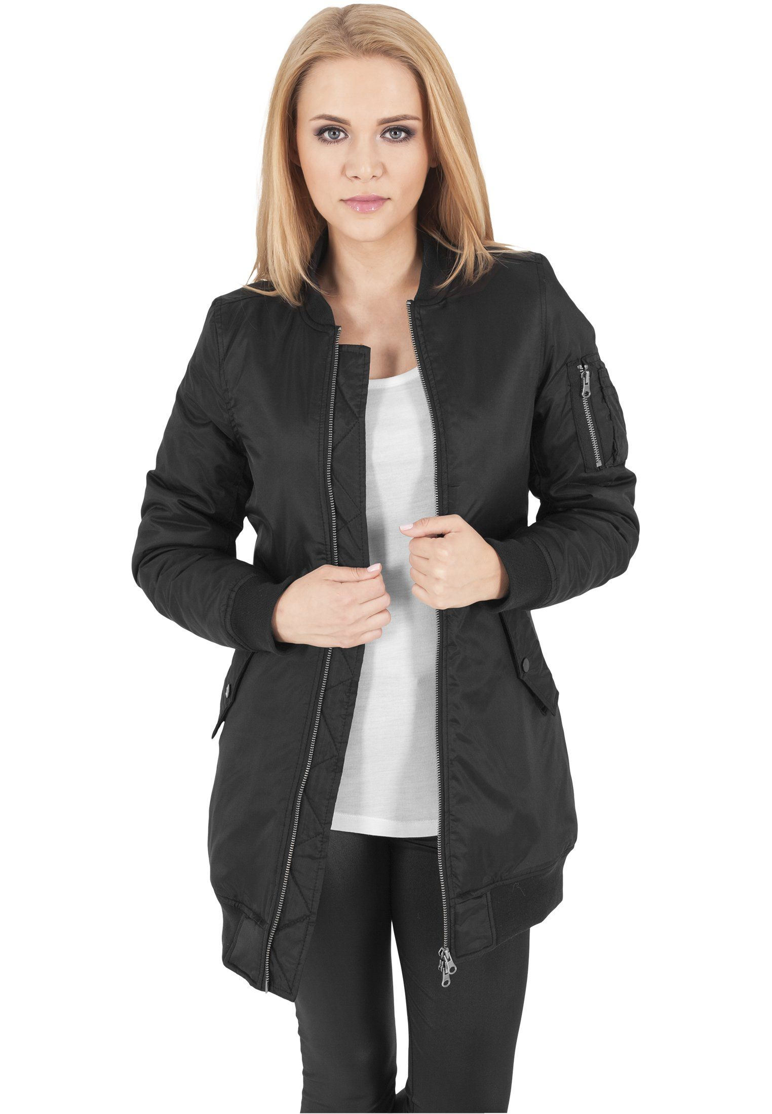 Urban Classics Ladies Long Bomber Jacket Black Xl Read More Reviews Of The Product By Visiting The Lin Long Bomber Jacket Jackets For Women Bomber Jacket [ 2200 x 1524 Pixel ]