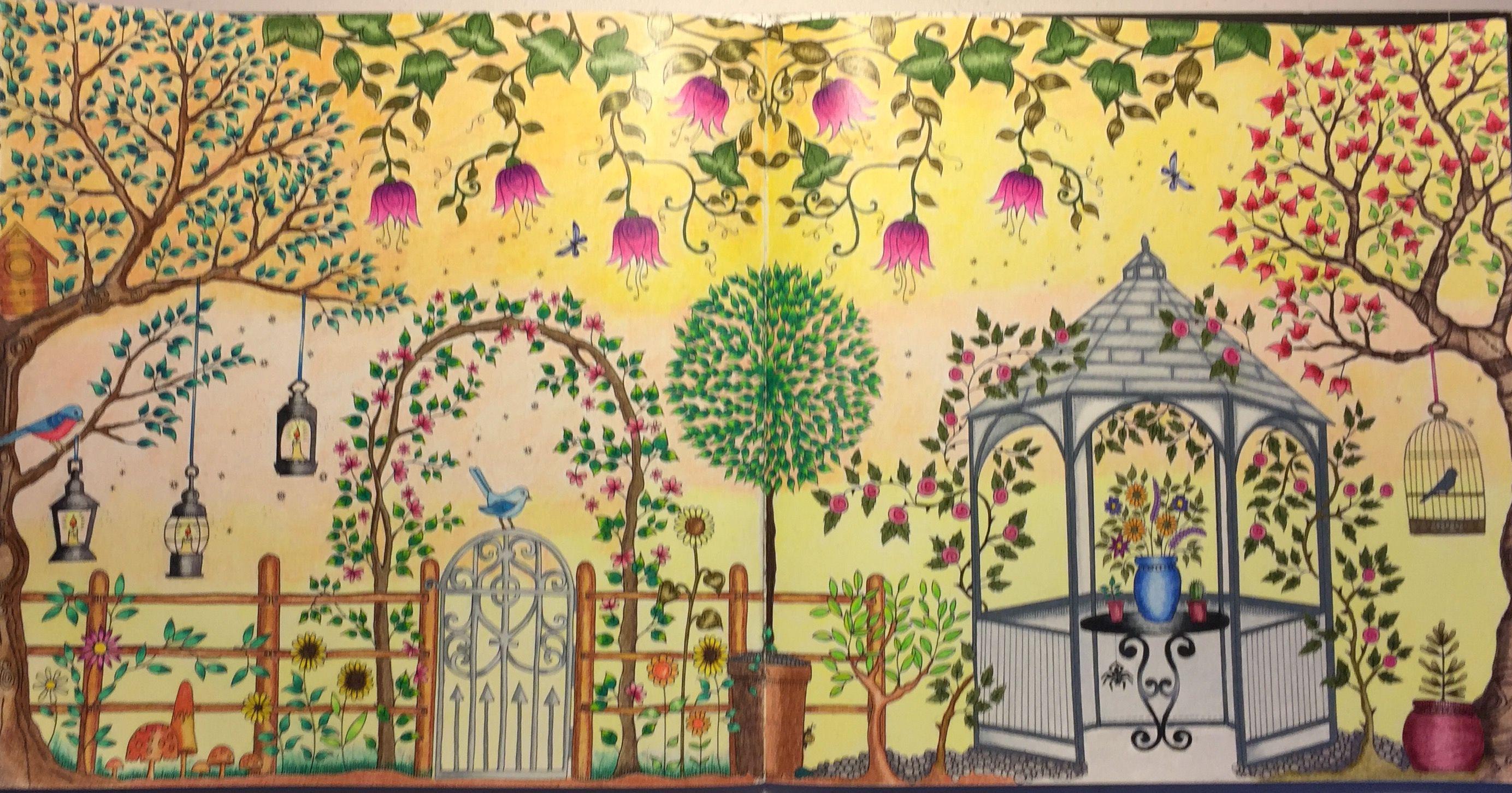 From Secret Garden By Johanna Bradford Completed 3 5 17 Secret Garden Coloring Book Secret Garden Colouring Johanna Basford Secret Garden