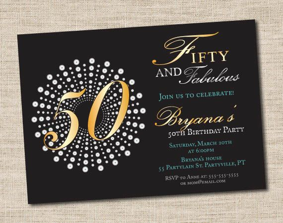 Fifty and fabulous birthday invitations 50th birthday party fifty and fabulous birthday invitations 50th birthday party invitations prinatble filmwisefo Gallery