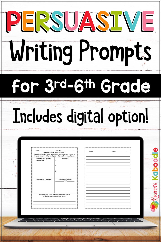 Persuasive Writing Prompts Graphic Organizers With Digital Option Persuasive Writing Prompts Persuasive Writing Persuasive Writing Graphic Organizer [ 1500 x 1000 Pixel ]