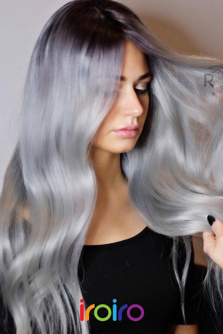 Iroiro 130 Silver Natural Vegan Cruelty Free Semi Permanent Hair Color Semi Permanent Hair Color Permanent Hair Color Temporary Hair Dye
