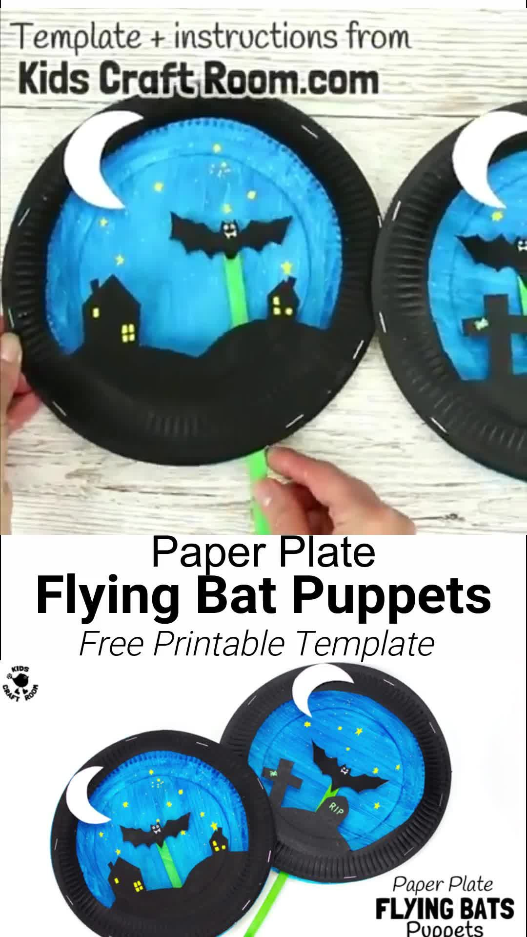 Paper Plate Bat Craft #halloweencraftsforkids