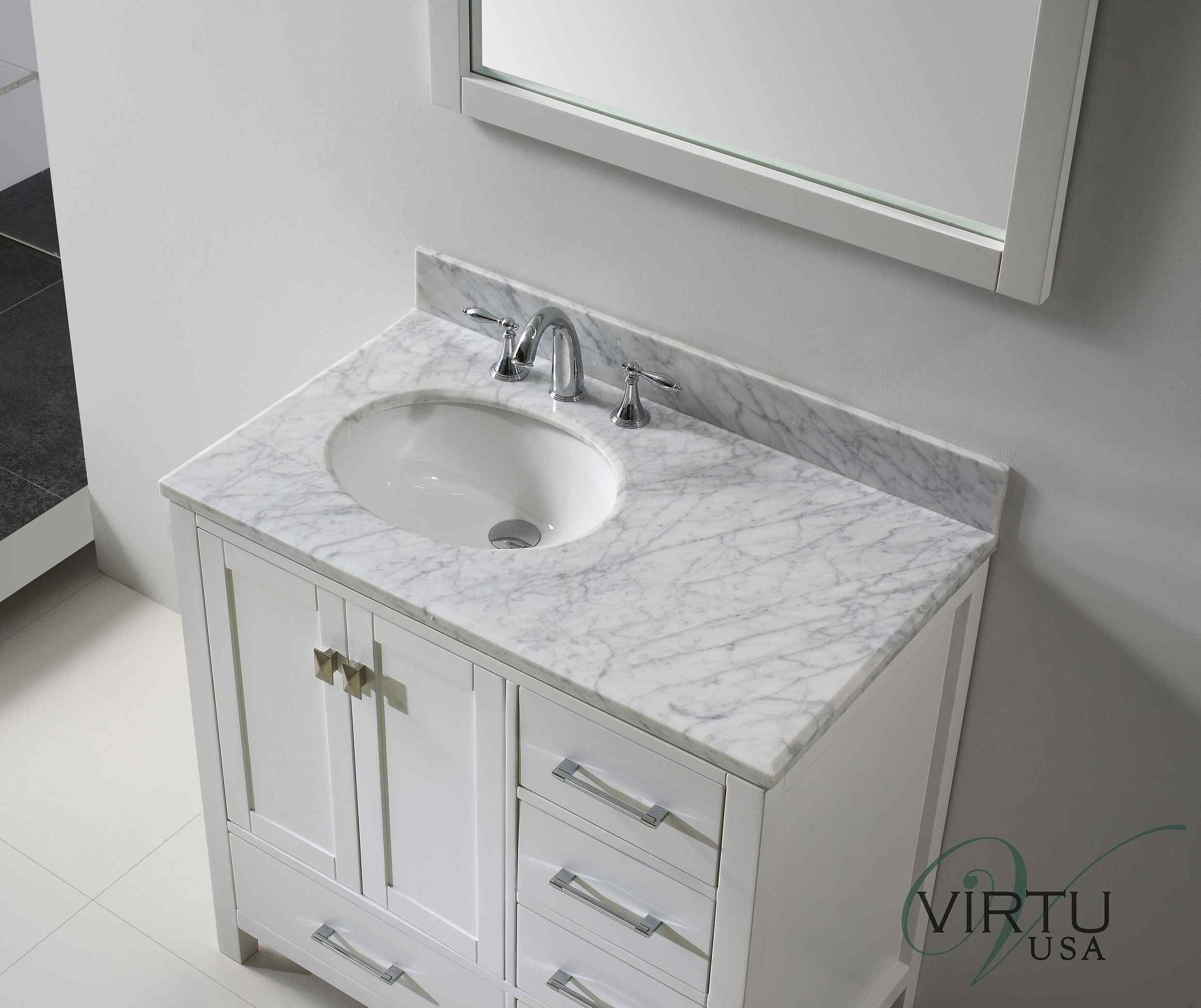 12 Example Of Inspirational Small Bathroom Ideas Vanities Counter Tops To Inspire You Small Bathroom Vanities White Vanity Bathroom Small Bathroom Storage