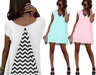 Sukienka Tunika Trapez Klin Wstawka Zygzak New M99 6234301141 Oficjalne Archiwum Allegro Fashion Dresses Halter Dress